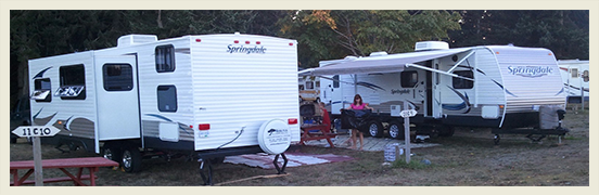 RV Trailers Delivered and Setup Ready for your Vancouver Island Adventure